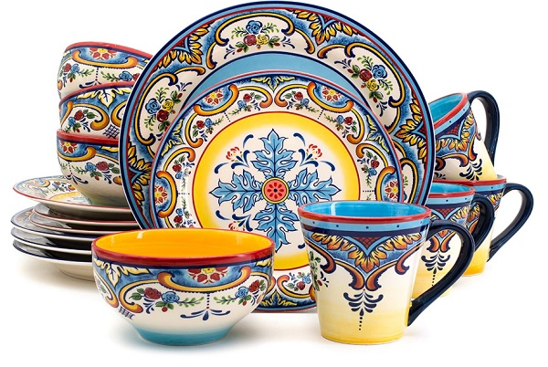 Euro Ceramica Multicolor Dinnerware Set