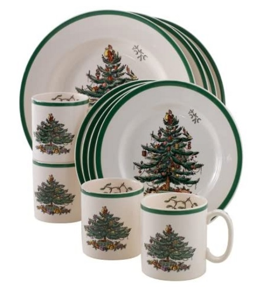 Spode Christmas Tree Dinnerware Set