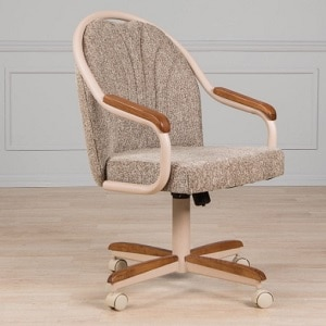 AW Furniture Caster Chair with Tilt Rolling Mechanism