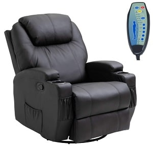 HomCom Faux Leather Heated Massage Recliner