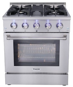 ThorKitchen Professional 30 Inches HRG3080U Gas Range