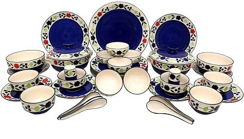 Odishabazaar Handmade Stoneware Ceramic Dinnerware Set