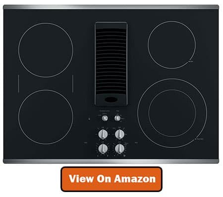 Best GE Profile Electric Cooktop with Downdraft